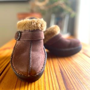 B.O.C mules with faux fur